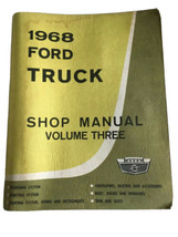 1968 Ford Truck Shop Manual Volume Three - $33.15