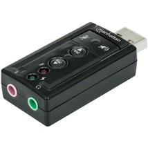 Manhattan(R) 151429 Hi-Speed USB 3D 7.1 Surround Sound Adapter - $31.43
