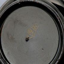 "Antique English Black Jackfield Pottery 8 1/4"" Pitcher Gold Band Reg Mark 1872 image 6"