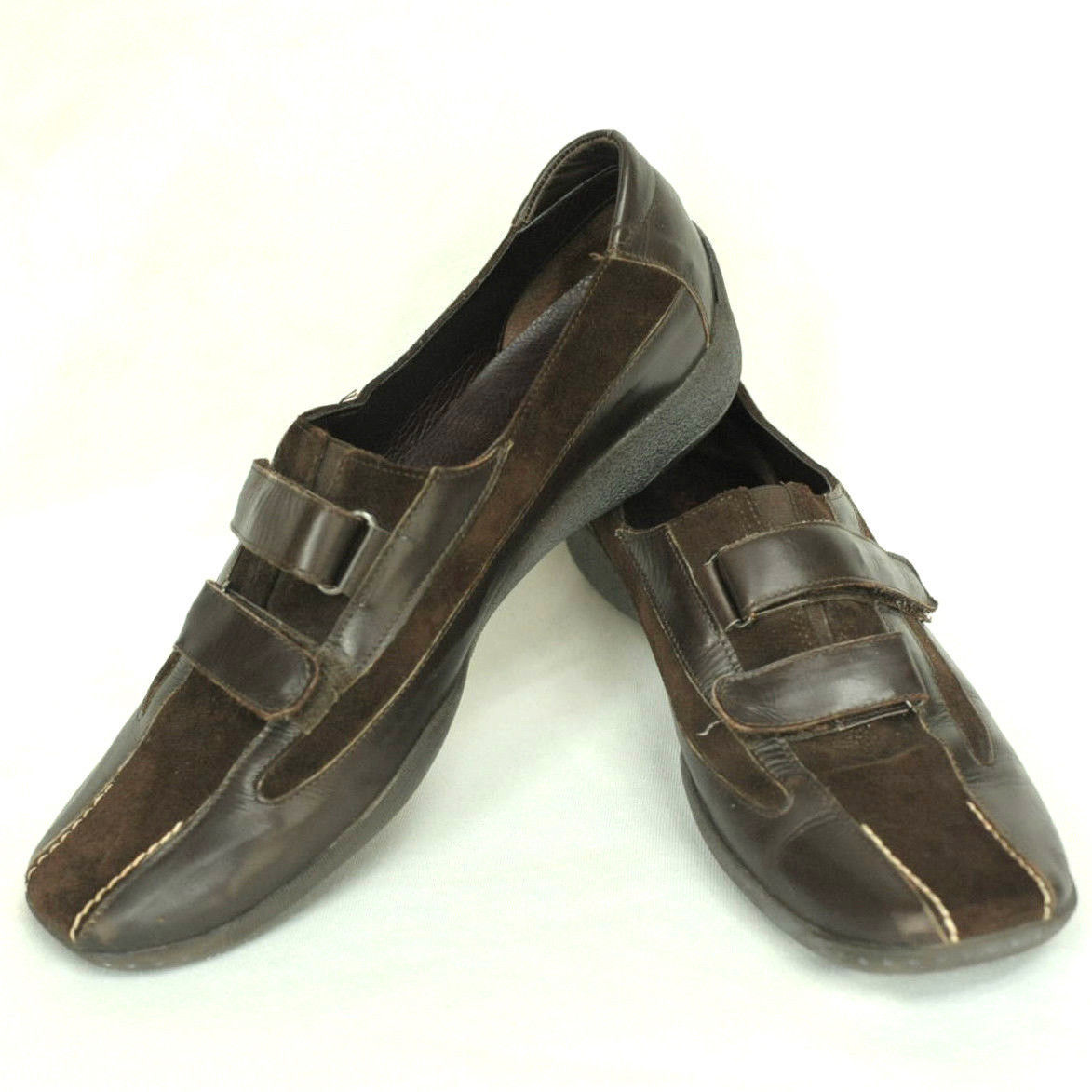 afd31d1a112 Sesto Meucci Women s 8.5 M Dark Brown Leather Suede Slip On Comfort Loafer