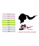 New Nike Sports band Colored Elastic Pony Tail Hair Ties 9-Pc Set Bin # 1 - $20.00