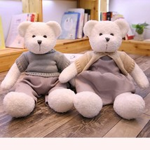 1 pcs 40/50cm Lovely Couple Teddy Bear With Sweater Plush Toys Dolls Stu... - $21.10