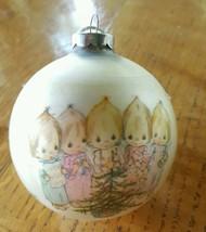 Hallmark Betsey Clark 1981 Glass Ornament CAROLERS~RARE~NIB - $24.99