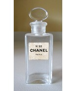 RARE Old Chanel No. 22 Perfume Bottle~Glass Stopper~Highly Collectible~P... - $79.19
