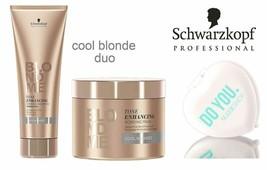 Schwarzkopf Pro Blond Me Cool Blondes Toning Enhancing Bonding Shampoo 8.4 Oz - $43.55