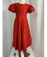 Strausburg Silk Special Occasion Dress, Girls Size 6, Red - $33.24