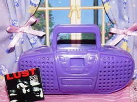 Barbie purple stereo boombox radio lot fits Fisher Price loving family d... - $7.99