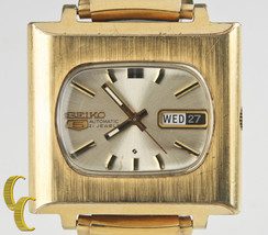"Seiko Men's Automatic Gold-Plated ""TV Dial"" Watch 21 Jewels 6119 w/ Day ... - $363.83"