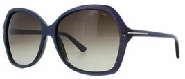 Tom Ford CAROLA Shiny Violet / Brown Gradient Sunglasses TF328 83F 60mm - $155.82