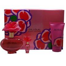 Marc Jacobs Oh Lola 3.4 Oz Eau De Parfum Spray 3 Pcs Gift Set image 1