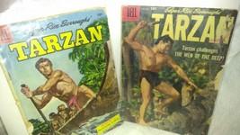 Edgar Rice Burrough's Tarzan Dell Comics Set, Nov-Dec 1958, Sept 1955 - $2.49
