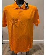 NIKE GOLF Mens Orange DRI FIT VICTORY POLO TOUR PERFORMANCE 509167 873 S... - $15.30