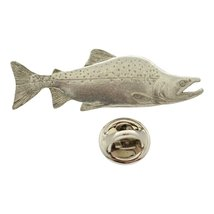 Pink Salmon Pin ~ Antiqued Pewter ~ Lapel Pin - $9.99