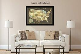 National Parks Map Poster and USA Travel Destinations Poster 36W x 24H inches image 7
