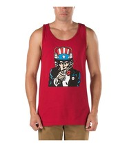 6d15d26af6107 VANS OFF THE WALL UNCLE SLAM RED TANK TOP MEN  39 S L LG SINGLET
