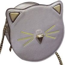 QZUnique Women's PU Round Satchel Cute Cat Face Wallet Cross Body Shoul... - $50.32