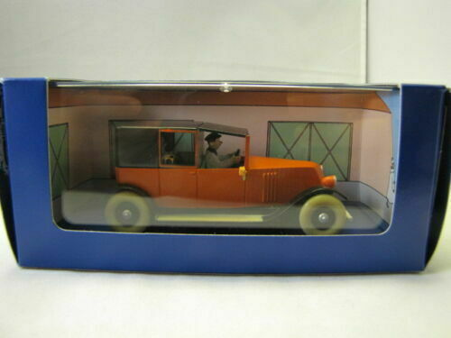 RED RENAULT TAXI METAL DIECAST VOITURE TINTIN CARS ATLAS 1/43