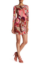 NWT! $258 Trina Turk 3/4 Sleeve Retro Print Dress - Size L