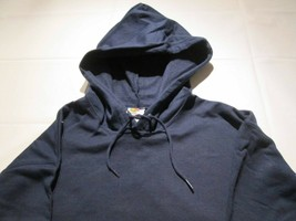 Men's Pull Over Hooded Sweatshirt Large Navy Fruit of the Loom 50/50 100 pc  - $550.00