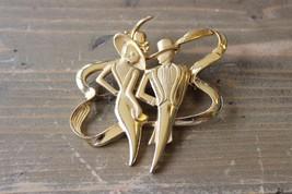 Vintage Gold Tone JJ Brooch - $10.68