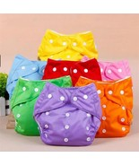 Adjustable Reusable Baby Boys Girls Cloth Diapers Soft Covers 1PC - $9.23 CAD
