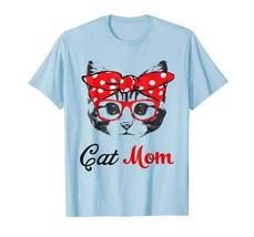 Dog Fashion - Funny Cat Mom Wears Bandana & Glass Gift Shirt Men - $19.95+