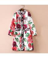 HIGH QUALITY Newest 2018 Designer Trench Women's Gorgeous Rose Buttons F... - $278.36