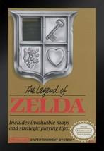 Framed Legend of Zelda NES Game Cover Poster - $90.00
