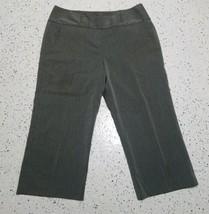 Larry Levine Women's Capri Dress Pants ~ Sz 12 ~ Gray ~ Pin Stripes ~ Po... - $14.84