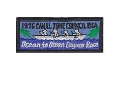 Boy Scouts of America BSA Canal Zone Cayuco Race 1976 Panama 1.5 x 3.75 inches - $9.99