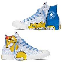 Converse Simpsons HOMER & BART Outlined Characters HI TOP Shoes DISC Mns... - $89.99