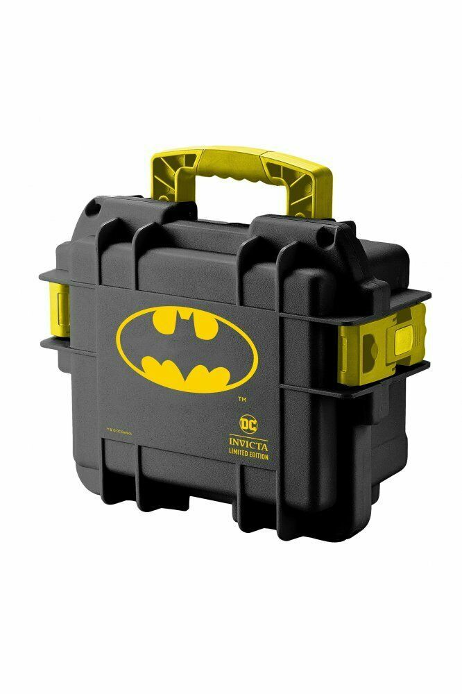 NEW INVICTA DC COMICS BATMAN 3 SLOT IMPACT CASE BLACK/YELLOW -VERY RARE - $59.39
