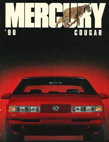1990 Mercury COUGAR sales brochure catalog US 90 LS XR7