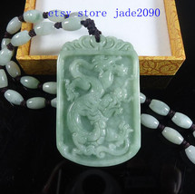 Free Shipping - Chinese Boutique jadeite dragon ,  Excellent Natural green Drago - $36.99