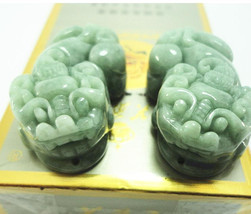 Free Shipping -  Jade treasures Amulet genuine  green jade jadeite carve... - $24.99