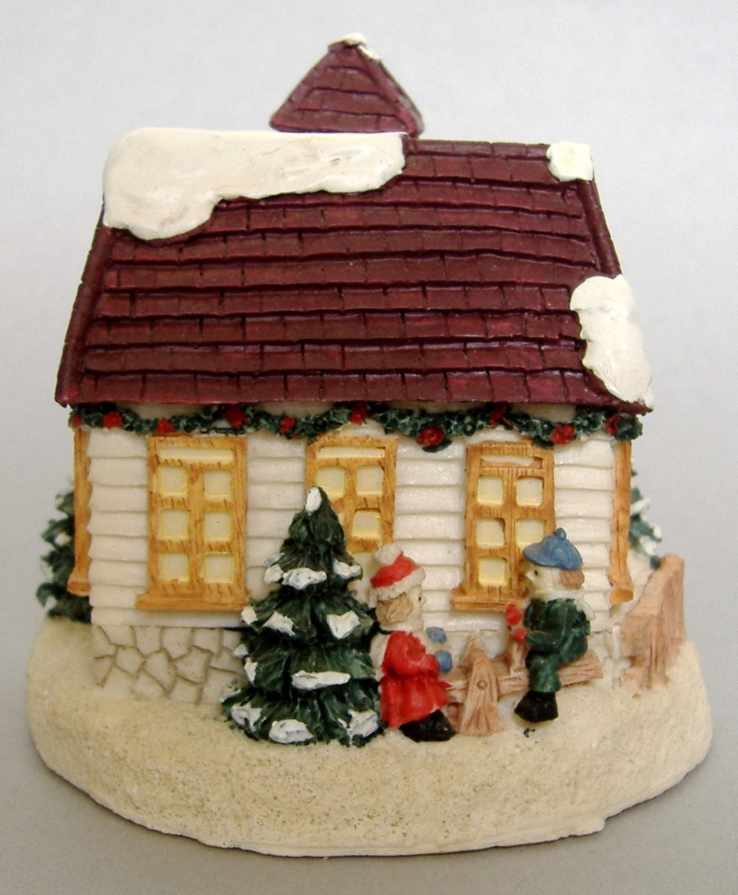 Crystal Falls Village Jefferson Day School Christmas Collectible 1994 Porcelain