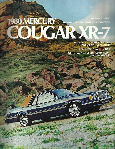 1980 Mercury COUGAR XR7 sales brochure catalog US 80 Decor