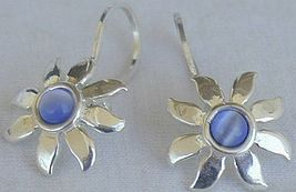 Mini blue flower earrings - $16.00