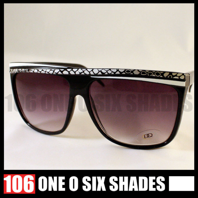 FLAT Top Womens Sunglasses 80's Retro Style WHITE New