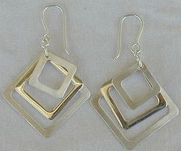 Triple square earrings - $24.00