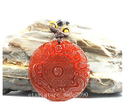 Free Shipping - Please give me the spirit of revelation Red jadeite jade Carved  - $18.99