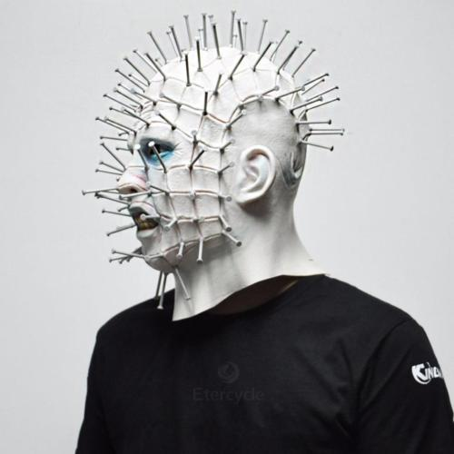 Scary Pinhead Masks Hellraiser Movie Cosplay Latex Adult Party Masks for Hallowe