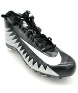 Nike Mens Alpha Menace Cleats Sz 15 Black And Silver New - $49.49