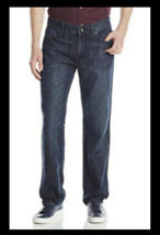 DKNY Mens Jeans Soho 36x30 Blue Relaxed Fit NWT - $23.38