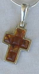 Primary image for  Mini  brown amber cross