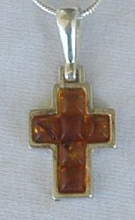 Mini  brown amber cross