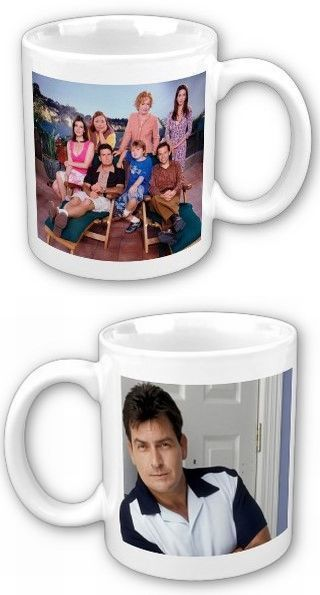 Two and a half men charlie sheen 2 photo collectible mug mugs coasters - Two and a half men mugs ...