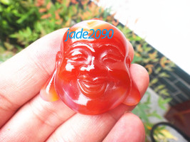 FREE SHIPPING - Natural Red jadeite jade Happy /  happiness /  Compassion  / Lau - $19.99
