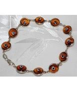 Amber Evil Glass Bead Bracelet - $12.95