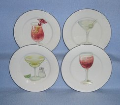 American Atelier Cocktails 5345 4 Canape or Snack Plates - $10.99
